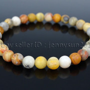 Handmade-6mm-Matte-Frosted-Natural-Gemstone-Round-Bead-Stretchy-Bracelet-Healing-371723628327-2e46
