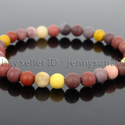 Handmade-6mm-Matte-Frosted-Natural-Gemstone-Round-Bead-Stretchy-Bracelet-Healing-371723628327-33cd