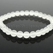 Handmade-6mm-Matte-Frosted-Natural-Gemstone-Round-Bead-Stretchy-Bracelet-Healing-371723628327-4717
