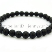 Handmade-6mm-Matte-Frosted-Natural-Gemstone-Round-Bead-Stretchy-Bracelet-Healing-371723628327-5960