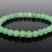 Handmade-6mm-Matte-Frosted-Natural-Gemstone-Round-Bead-Stretchy-Bracelet-Healing-371723628327-69db