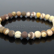 Handmade-6mm-Matte-Frosted-Natural-Gemstone-Round-Bead-Stretchy-Bracelet-Healing-371723628327-87e7