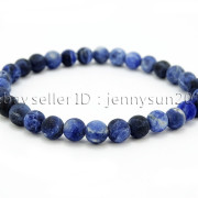 Handmade-6mm-Matte-Frosted-Natural-Gemstone-Round-Bead-Stretchy-Bracelet-Healing-371723628327-9a6a