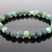 Handmade-6mm-Matte-Frosted-Natural-Gemstone-Round-Bead-Stretchy-Bracelet-Healing-371723628327-a43b
