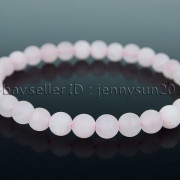 Handmade-6mm-Matte-Frosted-Natural-Gemstone-Round-Bead-Stretchy-Bracelet-Healing-371723628327-ca97