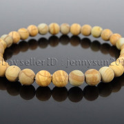 Handmade-6mm-Matte-Frosted-Natural-Gemstone-Round-Bead-Stretchy-Bracelet-Healing-371723628327-ce1c