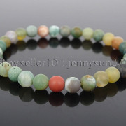 Handmade-6mm-Matte-Frosted-Natural-Gemstone-Round-Bead-Stretchy-Bracelet-Healing-371723628327-ff07