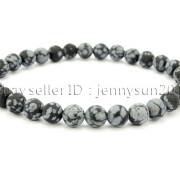 Handmade-6mm-Matte-Frosted-Natural-Gemstone-Round-Bead-Stretchy-Bracelet-Healing-371723628327-ff4c