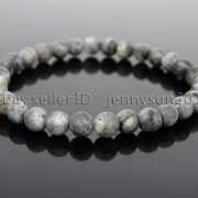 Handmade-6mm-Matte-Frosted-Natural-Gemstone-Round-Bead-Stretchy-Bracelet-Healing-371723628327-ff94