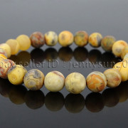 Handmade-8mm-Matte-Frosted-Natural-Gemstone-Round-Bead-Stretchy-Bracelet-Healing-262645680526-109f