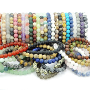 Handmade-8mm-Matte-Frosted-Natural-Gemstone-Round-Bead-Stretchy-Bracelet-Healing-262645680526