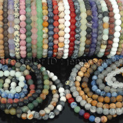 Handmade-8mm-Matte-Frosted-Natural-Gemstone-Round-Bead-Stretchy-Bracelet-Healing-262645680526-2