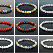 Handmade-8mm-Matte-Frosted-Natural-Gemstone-Round-Bead-Stretchy-Bracelet-Healing-262645680526-3