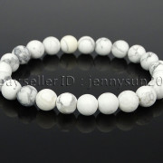 Handmade-8mm-Matte-Frosted-Natural-Gemstone-Round-Bead-Stretchy-Bracelet-Healing-262645680526-31d4
