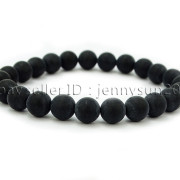 Handmade-8mm-Matte-Frosted-Natural-Gemstone-Round-Bead-Stretchy-Bracelet-Healing-262645680526-369e