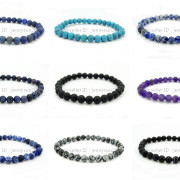 Handmade-8mm-Matte-Frosted-Natural-Gemstone-Round-Bead-Stretchy-Bracelet-Healing-262645680526-4