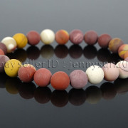 Handmade-8mm-Matte-Frosted-Natural-Gemstone-Round-Bead-Stretchy-Bracelet-Healing-262645680526-4ca3