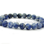 Handmade-8mm-Matte-Frosted-Natural-Gemstone-Round-Bead-Stretchy-Bracelet-Healing-262645680526-4d00