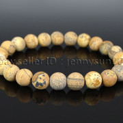 Handmade-8mm-Matte-Frosted-Natural-Gemstone-Round-Bead-Stretchy-Bracelet-Healing-262645680526-6b07