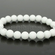 Handmade-8mm-Matte-Frosted-Natural-Gemstone-Round-Bead-Stretchy-Bracelet-Healing-262645680526-7f90