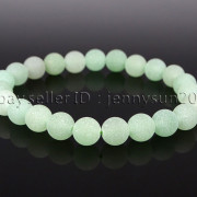 Handmade-8mm-Matte-Frosted-Natural-Gemstone-Round-Bead-Stretchy-Bracelet-Healing-262645680526-8982