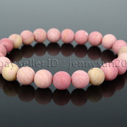 Handmade-8mm-Matte-Frosted-Natural-Gemstone-Round-Bead-Stretchy-Bracelet-Healing-262645680526-9515