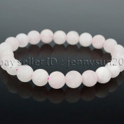 Handmade-8mm-Matte-Frosted-Natural-Gemstone-Round-Bead-Stretchy-Bracelet-Healing-262645680526-9688