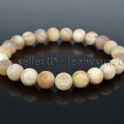 Handmade-8mm-Matte-Frosted-Natural-Gemstone-Round-Bead-Stretchy-Bracelet-Healing-262645680526-96c5