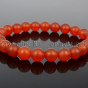 Handmade-8mm-Matte-Frosted-Natural-Gemstone-Round-Bead-Stretchy-Bracelet-Healing-262645680526-a126
