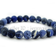 Handmade-8mm-Matte-Frosted-Natural-Gemstone-Round-Bead-Stretchy-Bracelet-Healing-262645680526-a16e