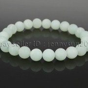 Handmade-8mm-Matte-Frosted-Natural-Gemstone-Round-Bead-Stretchy-Bracelet-Healing-262645680526-d679