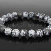 Handmade-8mm-Matte-Frosted-Natural-Gemstone-Round-Bead-Stretchy-Bracelet-Healing-262645680526-dec0