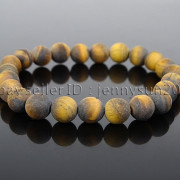 Handmade-8mm-Matte-Frosted-Natural-Gemstone-Round-Bead-Stretchy-Bracelet-Healing-262645680526-f5cf
