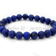 Handmade-8mm-Matte-Frosted-Natural-Gemstone-Round-Bead-Stretchy-Bracelet-Healing-262645680526-f857
