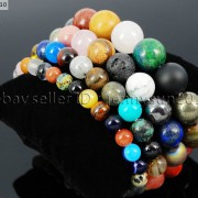 Handmade-8mm-Mixed-Natural-Gemstone-Round-Beads-Stretchy-Bracelet-Healing-Reiki-281374615131-0148