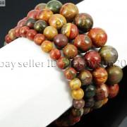 Handmade-8mm-Mixed-Natural-Gemstone-Round-Beads-Stretchy-Bracelet-Healing-Reiki-281374615131-ee47