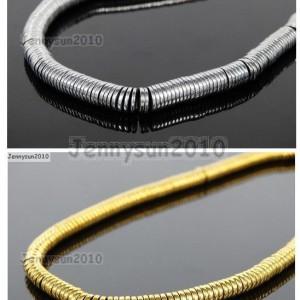 Hematite-Gemstone-1mm-2mm-3mm-4mm-6mm-Heishi-Beads-16-Metallic-Silver-Gold-261595923445