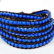Hot-Colorful-Handmade-Mixed-Crystal-and-Gemstones-Beads-Wrap-Leather-Bracelet-370919965763-0062