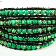 Hot-Colorful-Handmade-Mixed-Crystal-and-Gemstones-Beads-Wrap-Leather-Bracelet-370919965763-0773