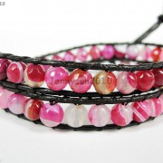 Hot-Colorful-Handmade-Mixed-Crystal-and-Gemstones-Beads-Wrap-Leather-Bracelet-370919965763-1604