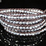 Hot-Colorful-Handmade-Mixed-Crystal-and-Gemstones-Beads-Wrap-Leather-Bracelet-370919965763-1d87
