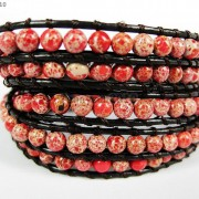 Hot-Colorful-Handmade-Mixed-Crystal-and-Gemstones-Beads-Wrap-Leather-Bracelet-370919965763-25c1