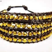 Hot-Colorful-Handmade-Mixed-Crystal-and-Gemstones-Beads-Wrap-Leather-Bracelet-370919965763-25c8