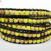 Hot-Colorful-Handmade-Mixed-Crystal-and-Gemstones-Beads-Wrap-Leather-Bracelet-370919965763-2e22