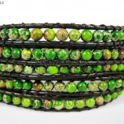Hot-Colorful-Handmade-Mixed-Crystal-and-Gemstones-Beads-Wrap-Leather-Bracelet-370919965763-2f77