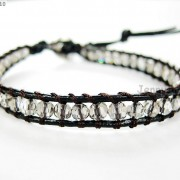Hot-Colorful-Handmade-Mixed-Crystal-and-Gemstones-Beads-Wrap-Leather-Bracelet-370919965763-2fa2