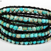 Hot-Colorful-Handmade-Mixed-Crystal-and-Gemstones-Beads-Wrap-Leather-Bracelet-370919965763-3762