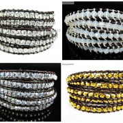 Hot-Colorful-Handmade-Mixed-Crystal-and-Gemstones-Beads-Wrap-Leather-Bracelet-370919965763-5