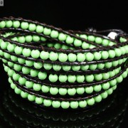 Hot-Colorful-Handmade-Mixed-Crystal-and-Gemstones-Beads-Wrap-Leather-Bracelet-370919965763-6342