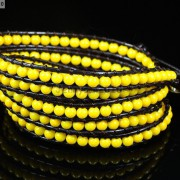 Hot-Colorful-Handmade-Mixed-Crystal-and-Gemstones-Beads-Wrap-Leather-Bracelet-370919965763-6ba2